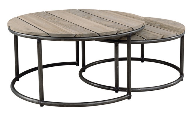 Anthony Round Outdoor Coffee Table – Set of 2 Product Image