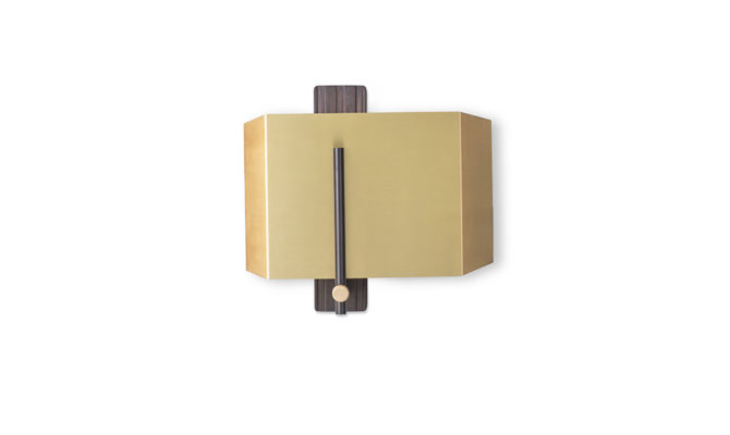 AEGIS WALL LIGHT / BRONZED BRASS & BRASS / LEFT Product Image