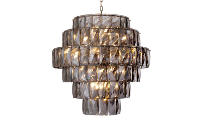 AMAZONE CHANDELIER – LARGE – smoke crystal glass Product Image