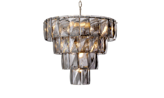 Amazone Chandelier – Small – smoke crystal glass Product Image
