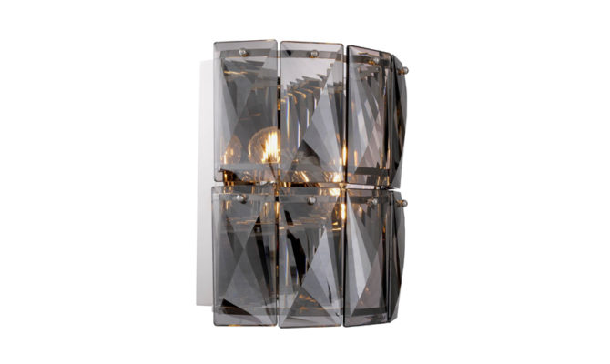 AMAZONE WALL LAMP – SMOKE crystal glass Product Image
