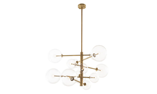 Argento Chandelier Small – Brass Product Image