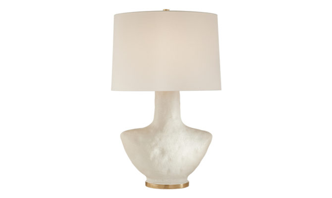 Armato Small Table Lamp White with Linen Shade Product Image
