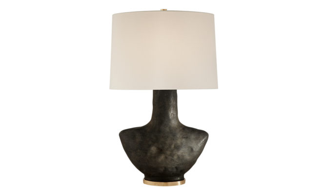 Armato Small Table Lamp Black with Linen Shade Product Image