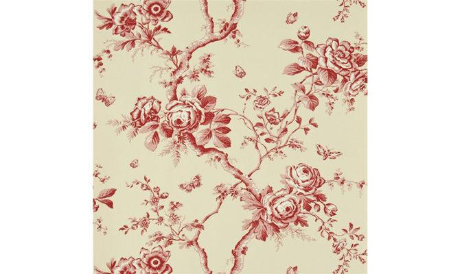 Ashfield Floral – Vermilion PRL027 02 Product Image