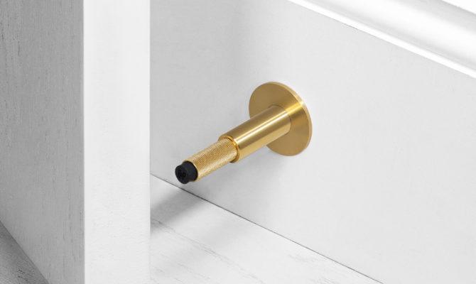 DOOR STOP / WALL / BRASS Product Image