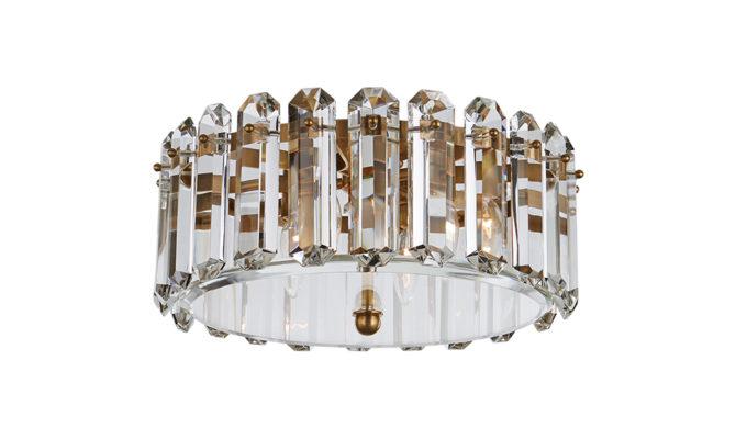 Bonnington Medium Flush Mount Brass Product Image