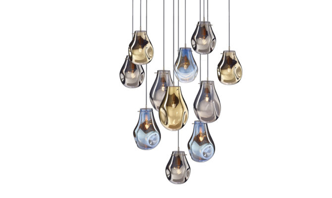 soap chandelier | 11 pcs – Gold/Blue/Silver Product Image