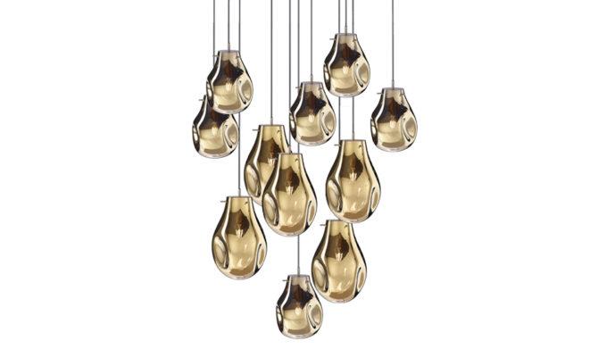 soap chandelier | 11 pcs – Gold Product Image