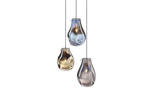 soap chandelier | 3 pcs – Gold/Blue/Silver Product Image