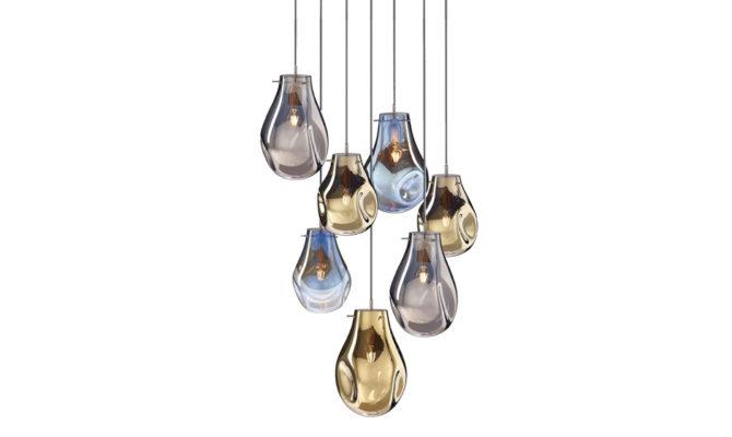 soap chandelier   7 pcs – Gold/Blue/Silver Product Image
