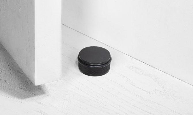DOOR STOP / FLOOR / BLACK Product Image