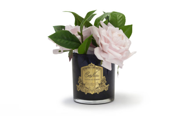 ENGLISH ROSES IN BLACK GLASS – PINK Product Image