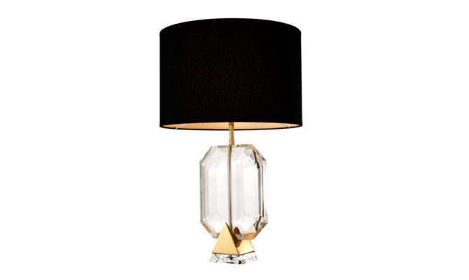 EMERALD TABLE LAMP – Gold Product Image