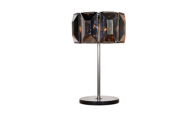 FACET CRYSTAL TABLE LAMP –  Clear Glass Product Image