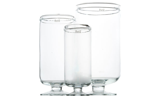 Hurricane on foot Vase | Clear Product Image