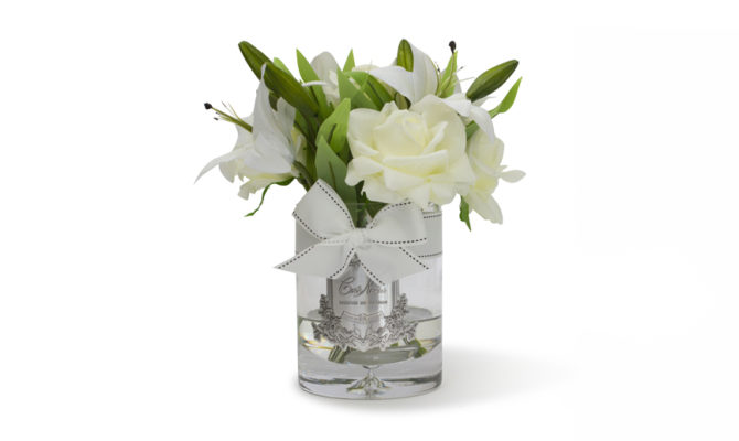 CÔTE NOIRE – LUXURY LILIES AND ROSES – IVORY-WHITE Product Image
