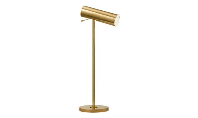 Lancelot Pivoting Desk Lamp Brass Product Image