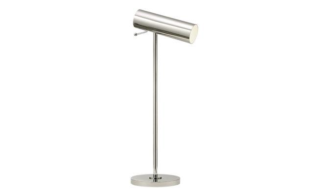 Lancelot Pivoting Desk Lamp Polished Nickel Product Image