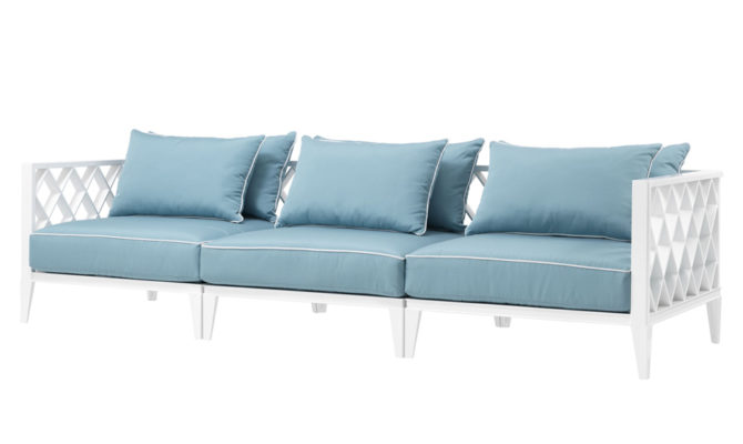Ocean Club Sofa – White / Blue Product Image