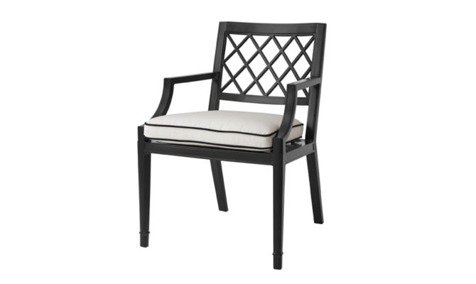Paladium Chair with arms – Black Product Image