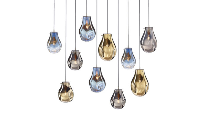 soap chandelier | 10 pcs – Gold/Blue/Silver Product Image