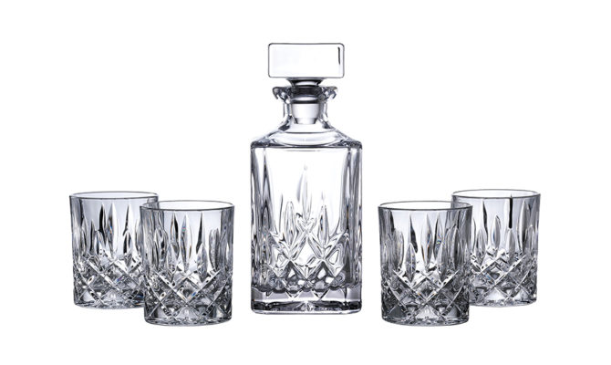 Square Spirit Decanter Set: Decanter & 4 Tumblers Product Image