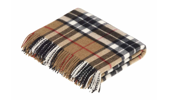 CAMEL THOMPSON TARTAN | Throw Product Image