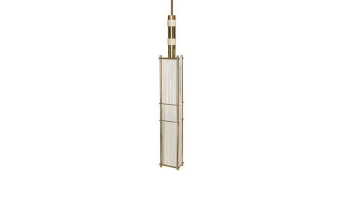 Arbor Pendant / Brass and Matte Old English White Product Image