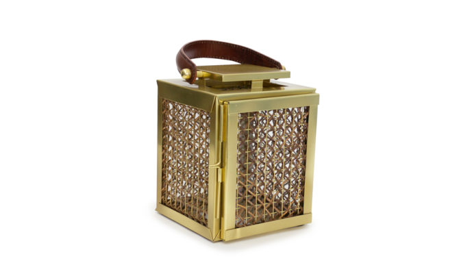 Derby Lantern / Antique Brass & Cane – XS Product Image