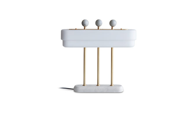 Spate table lamp / white marble Product Image