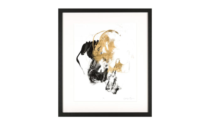 BLACK & GOLD SPLASH 2 / PRINT – NY562 Product Image
