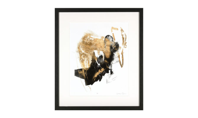 BLACK & GOLD SPLASH 1 / PRINT – ny561 Product Image