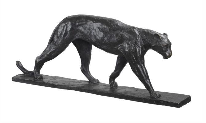 Art Deco Leopard sculpture Product Image