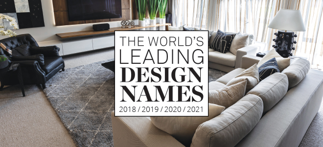 The World's Leading Design Names for 2020 book for the 4th consecutive year!