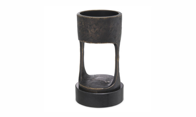 CANDLE HOLDER BOLOGNA – Bronze  / SMALL Product Image