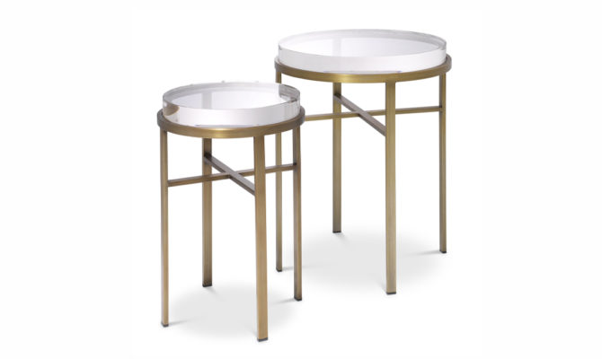 Hoxton Side Table – Brass Product Image