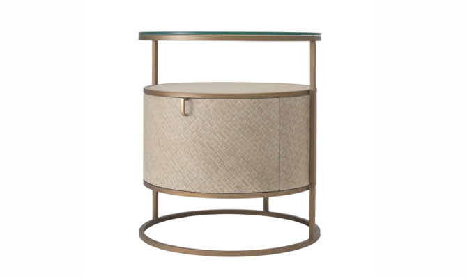 Napa Valley BEDSIDE TABLE – Brass Product Image