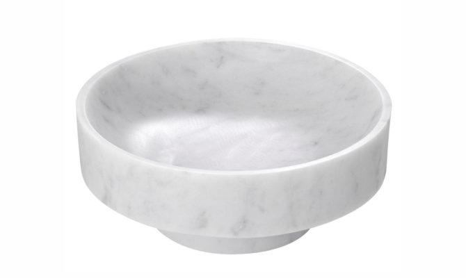 Santiago Bowl – white marble Product Image