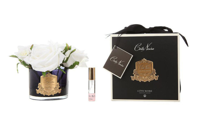 Côte Noire – FIVE ROSES IVORY WHITE IN BLACK GLASS Product Image